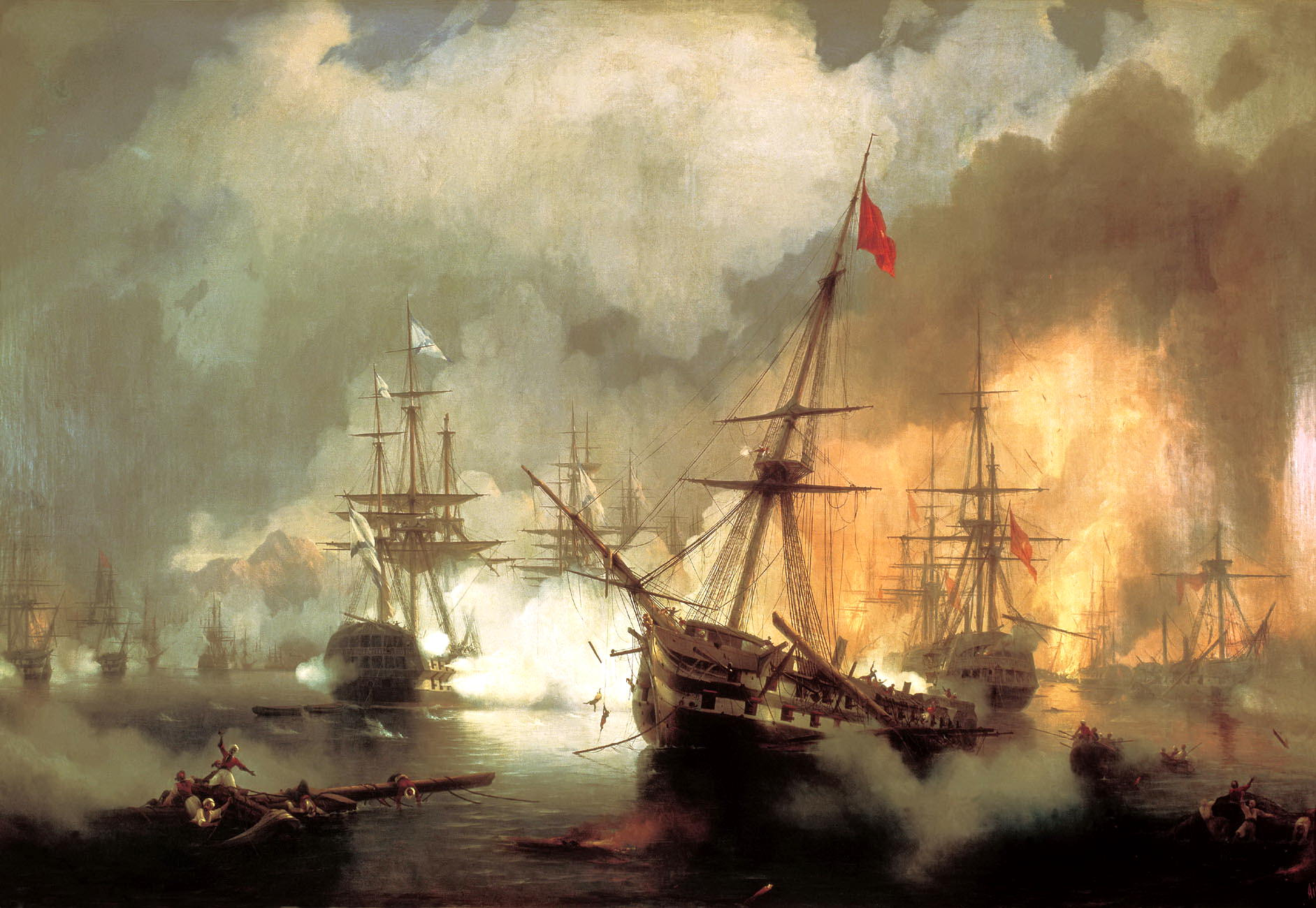Battle of Navarino (by Ivan Aivazovsky, original colors version).jpg