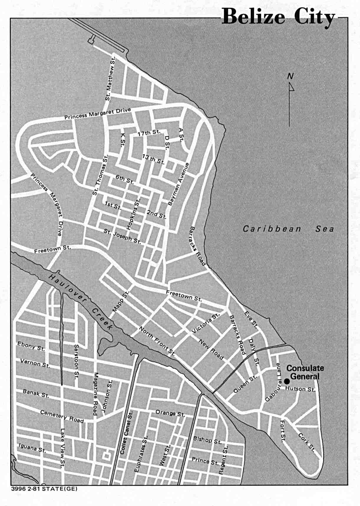 FileBelize city map 1981jpg Wikimedia Commons