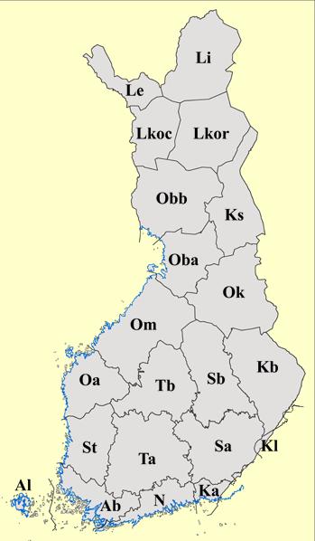 Maakunnat Kartta