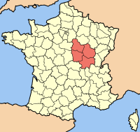 Location of Burgundy (in red)