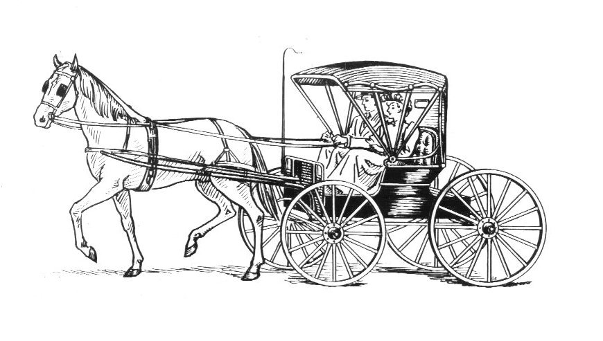 santa horse buggy coloring pages - photo#28
