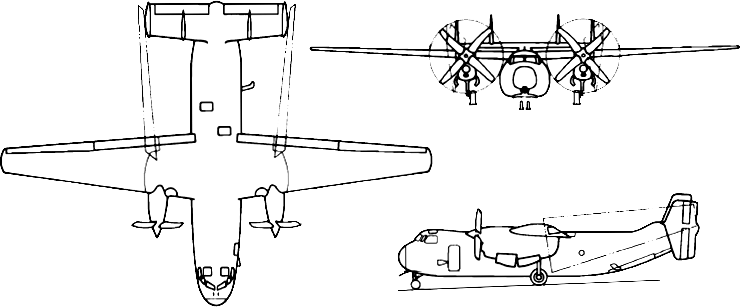 File:C-2A Greyhound 3-view.png