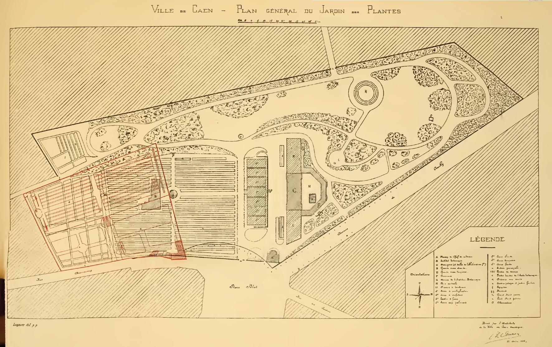 Fichier Caen Jardindesplantes Planauvray 1898 Png Wikipedia