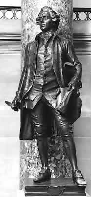 The bronze statue located in the United States Capitol crypt