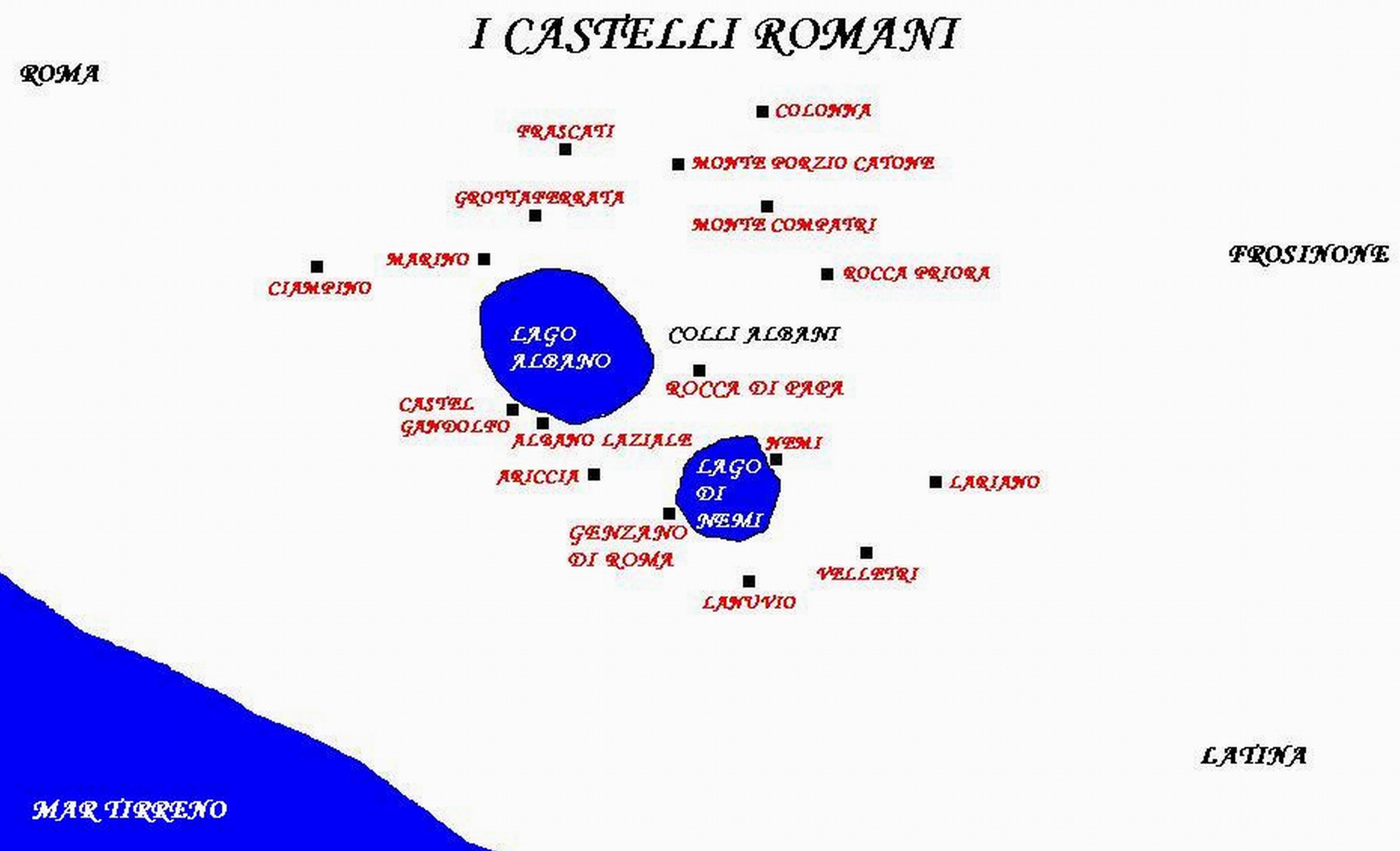 Colli Di Roma Cartina.File Cartina Castelli Romani Jpg Wikipedia