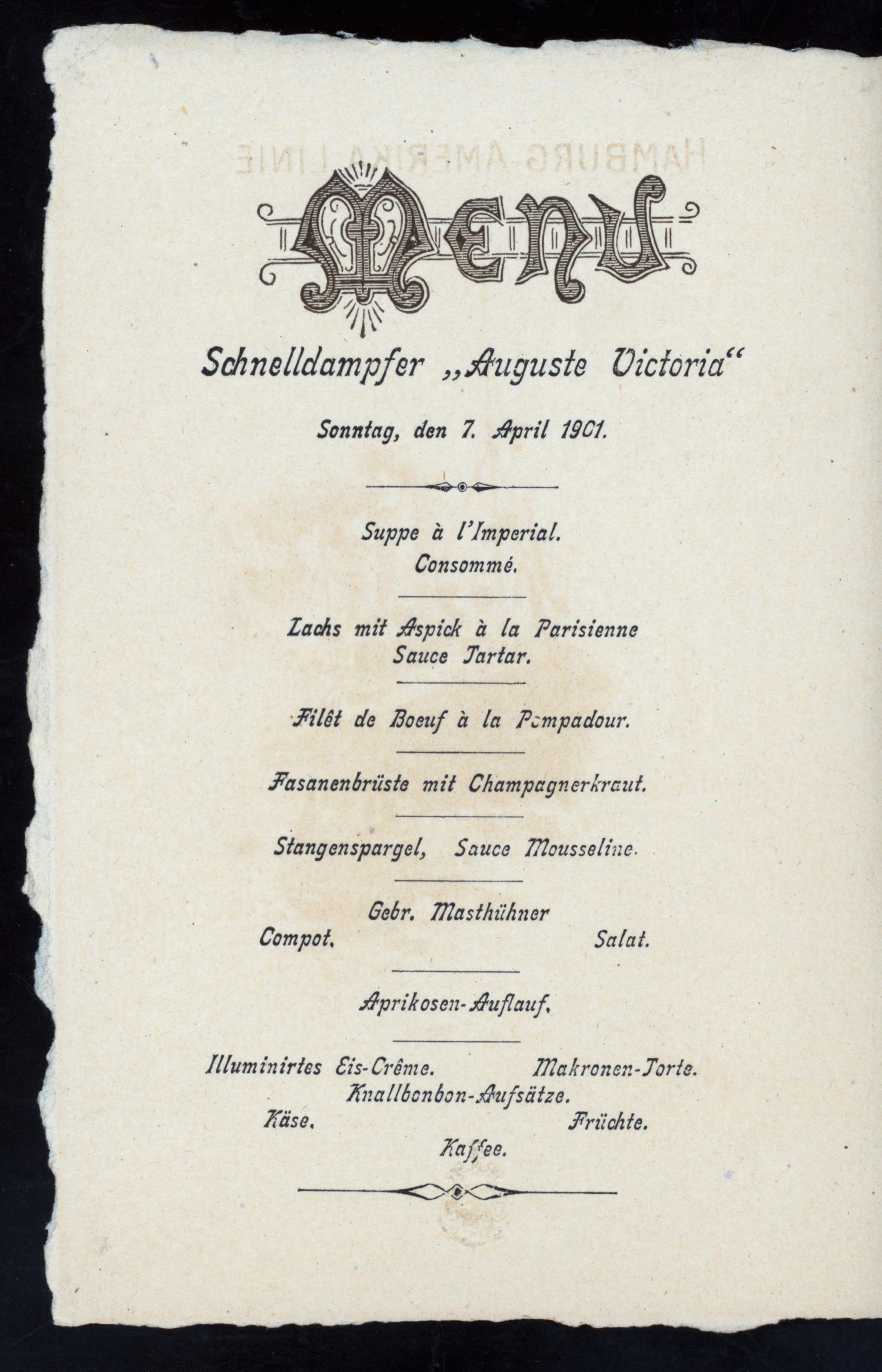 Pompadour Hamburg file dinner held by hamburg amerika linie at schnelldampfer