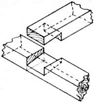 EB1911 Carpentry - Fig. 11 - Bevelled Halving.jpg