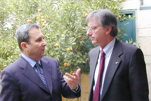 Prime Minister Ehud Barak with former Special Middle East Coordinator, Dennis Ross, in 1999.