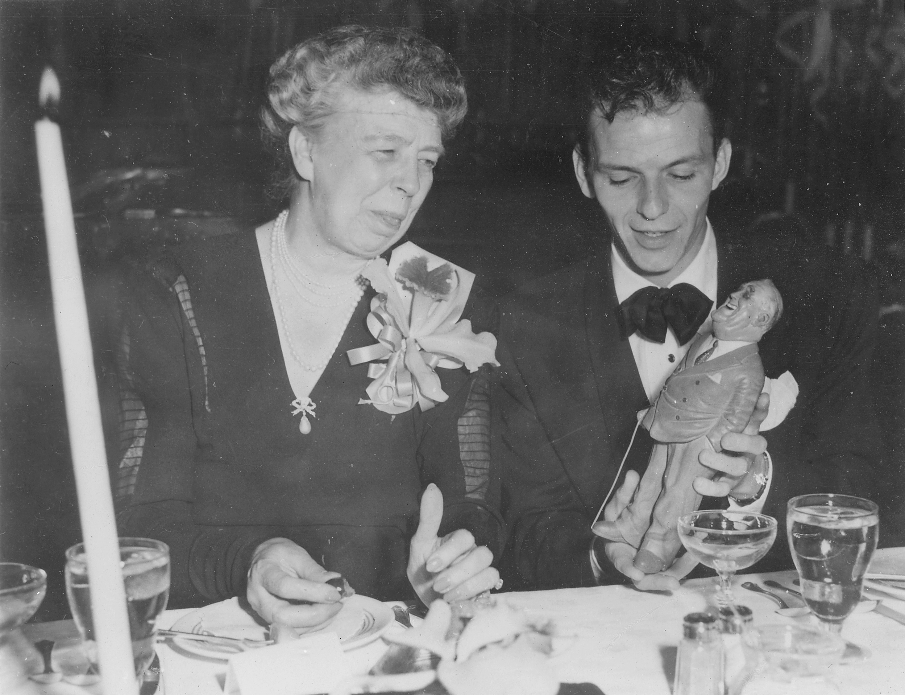 Eleanor Roosevelt and Frank Sinatra in Los Angleles, California