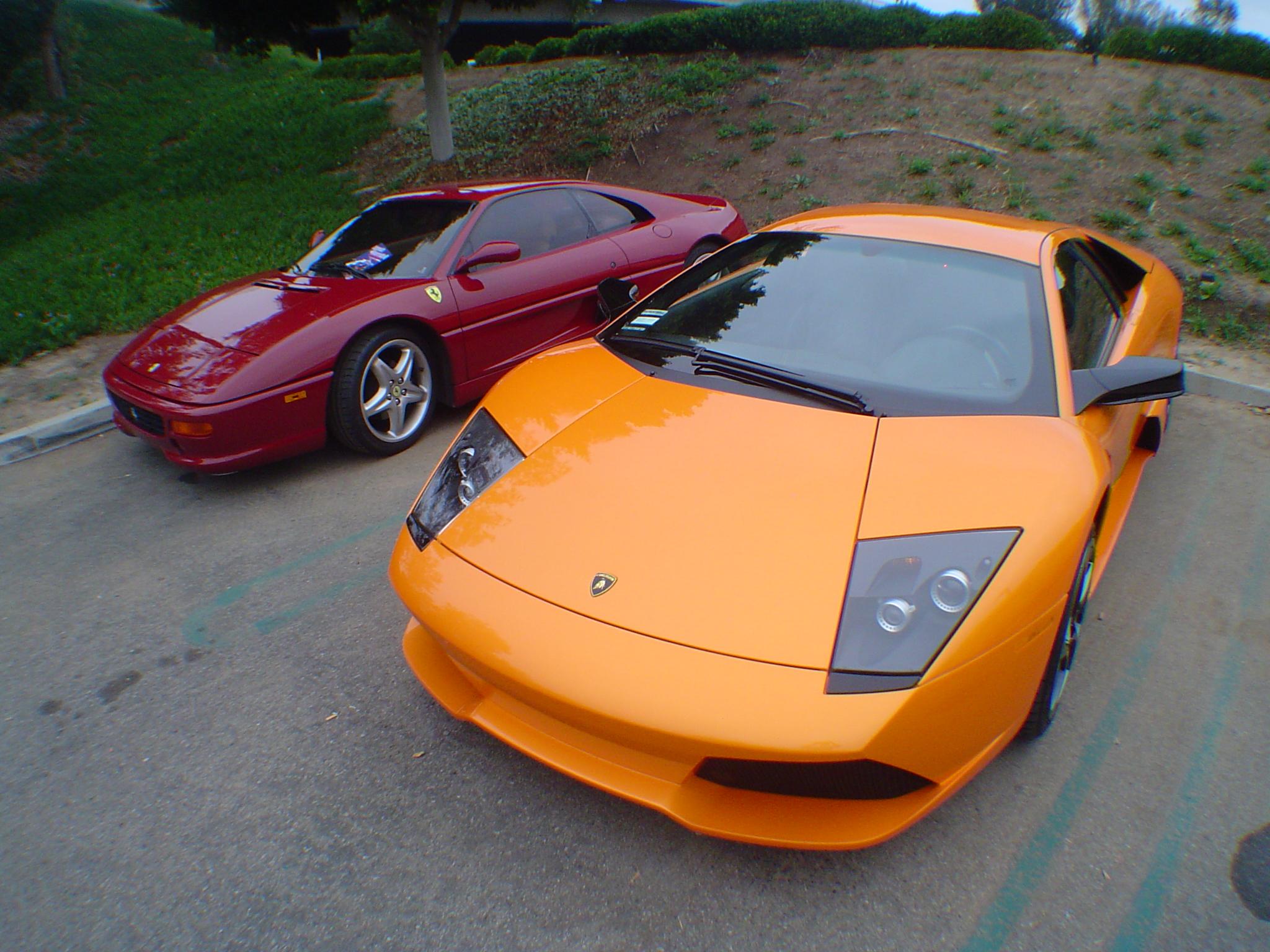 File Ferrari 355 And Lamborghini Lp640 Murcielago 3372972775 Jpg Wikimedia Commons