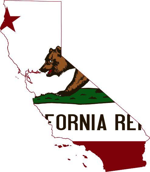 Flag-map of California2