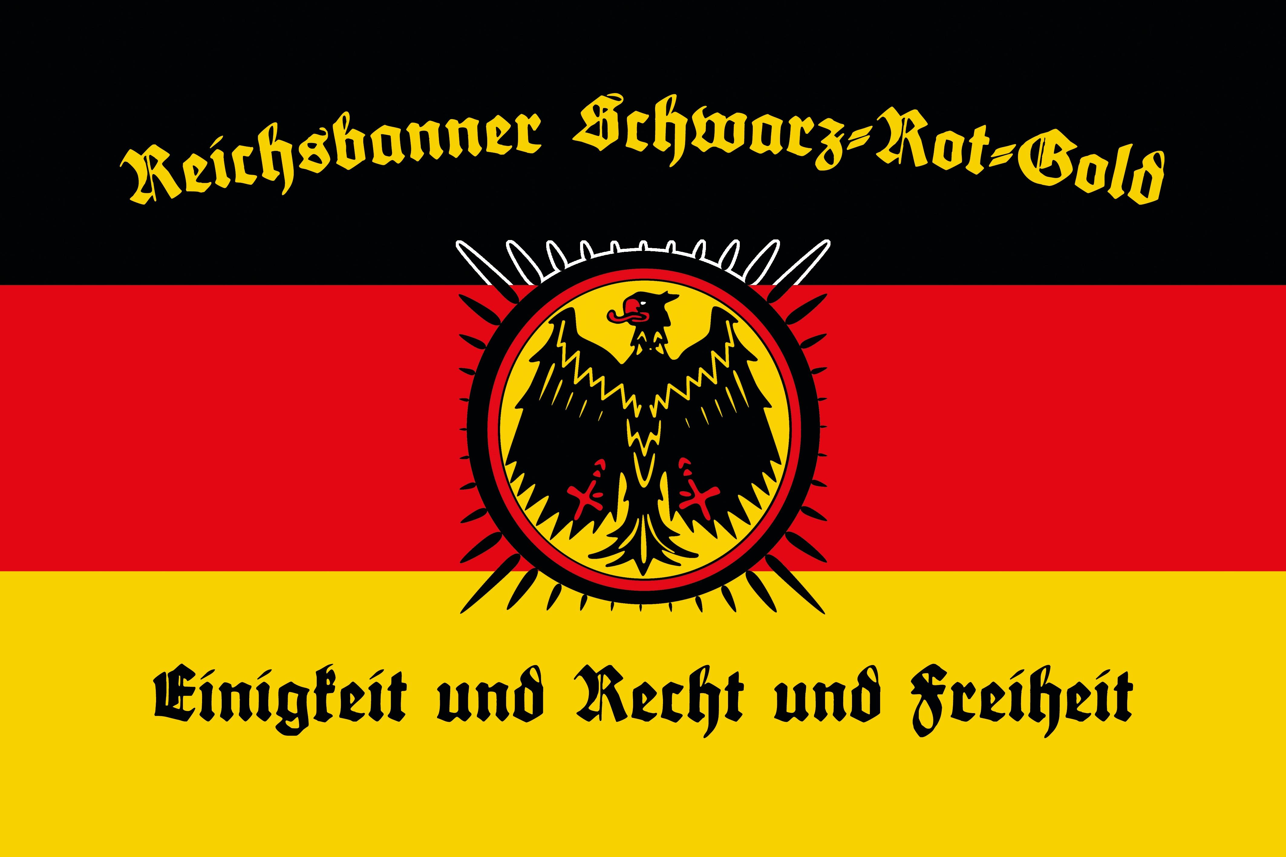 Flagge des Reichsbanners Schwarz-Rot-Gold