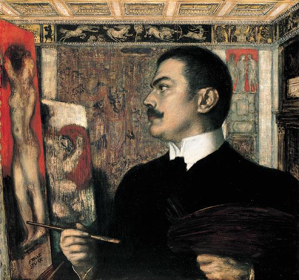 Franz von Stuck Autoportret w atelier, 1905