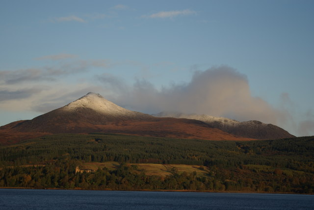 Goat Fell and Brodick Castle - geograph.org.uk - 1036035