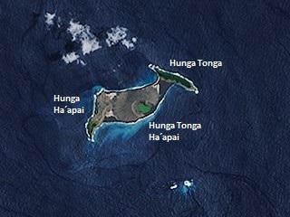 近年來新誕生於世界上的火山島──匈加東加島。