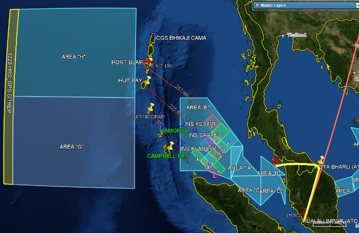 India's search areas for Malaysia Airlines Flight 370 (2)