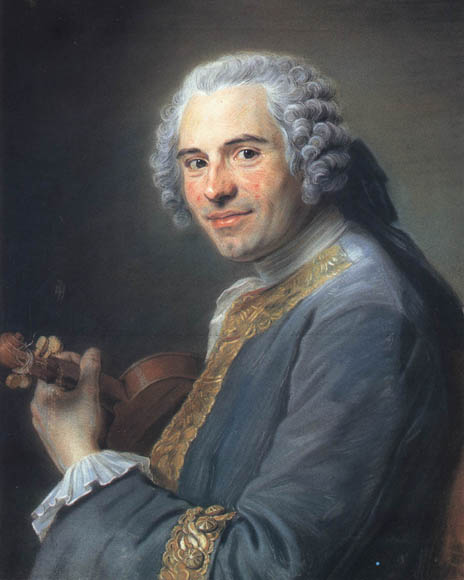 Jean-Joseph Cassanéa de Mondonville (original replica) by Maurice Quentin de La Tour