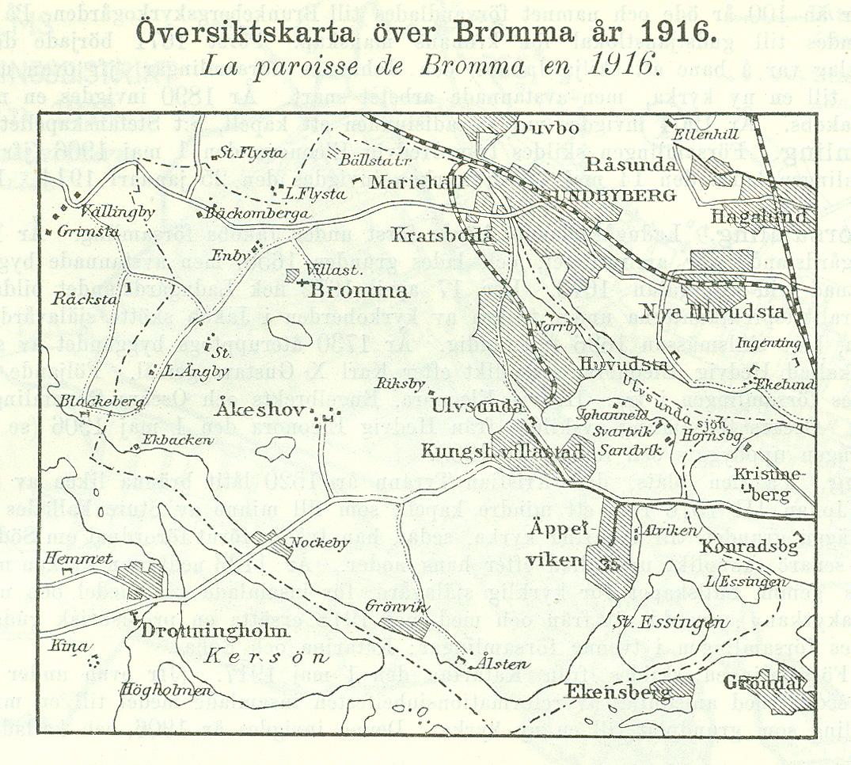 File Karta Over Bromma 1916 Jpg Wikimedia Commons