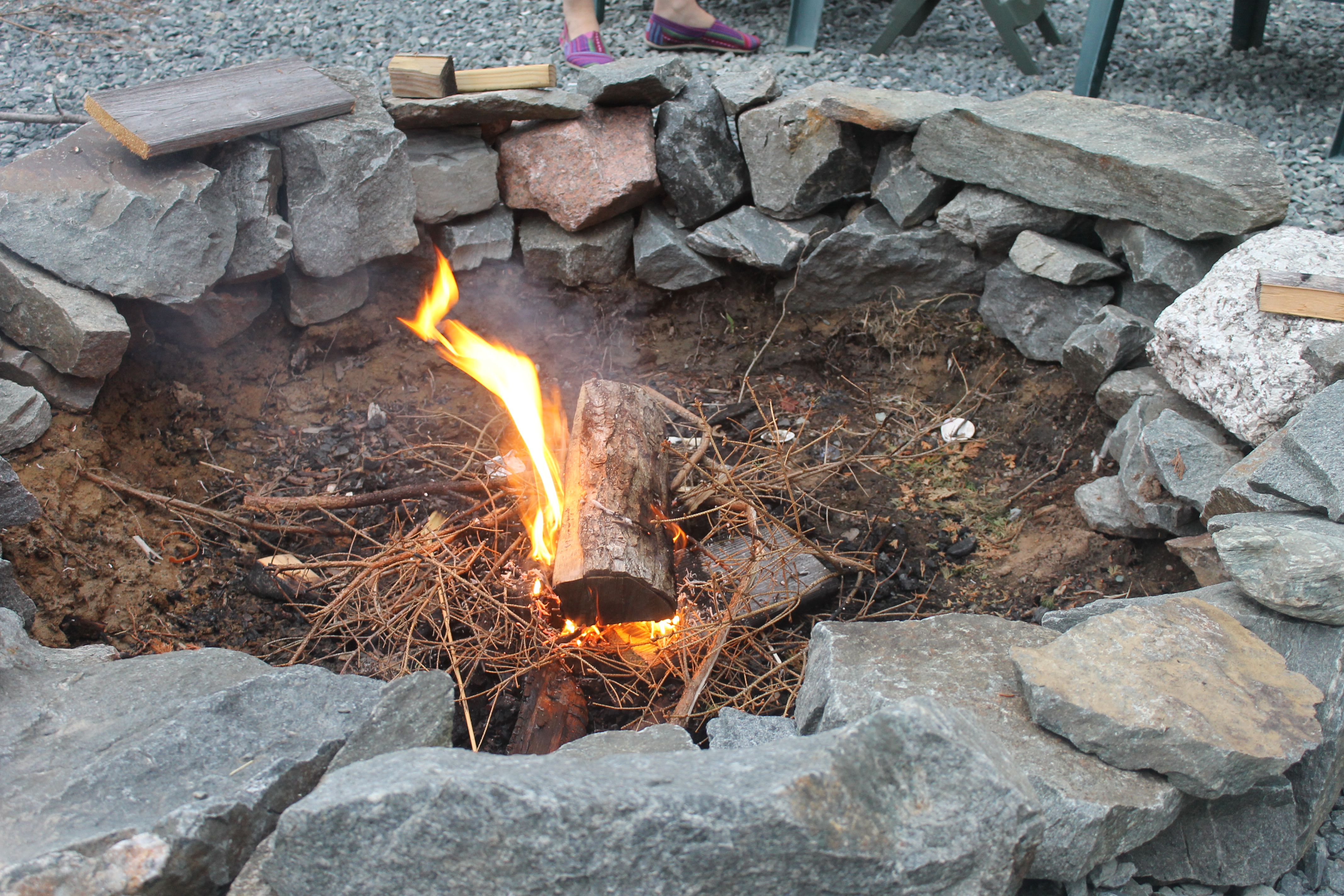 Steel Fire Pit Ring With Cooking Grates