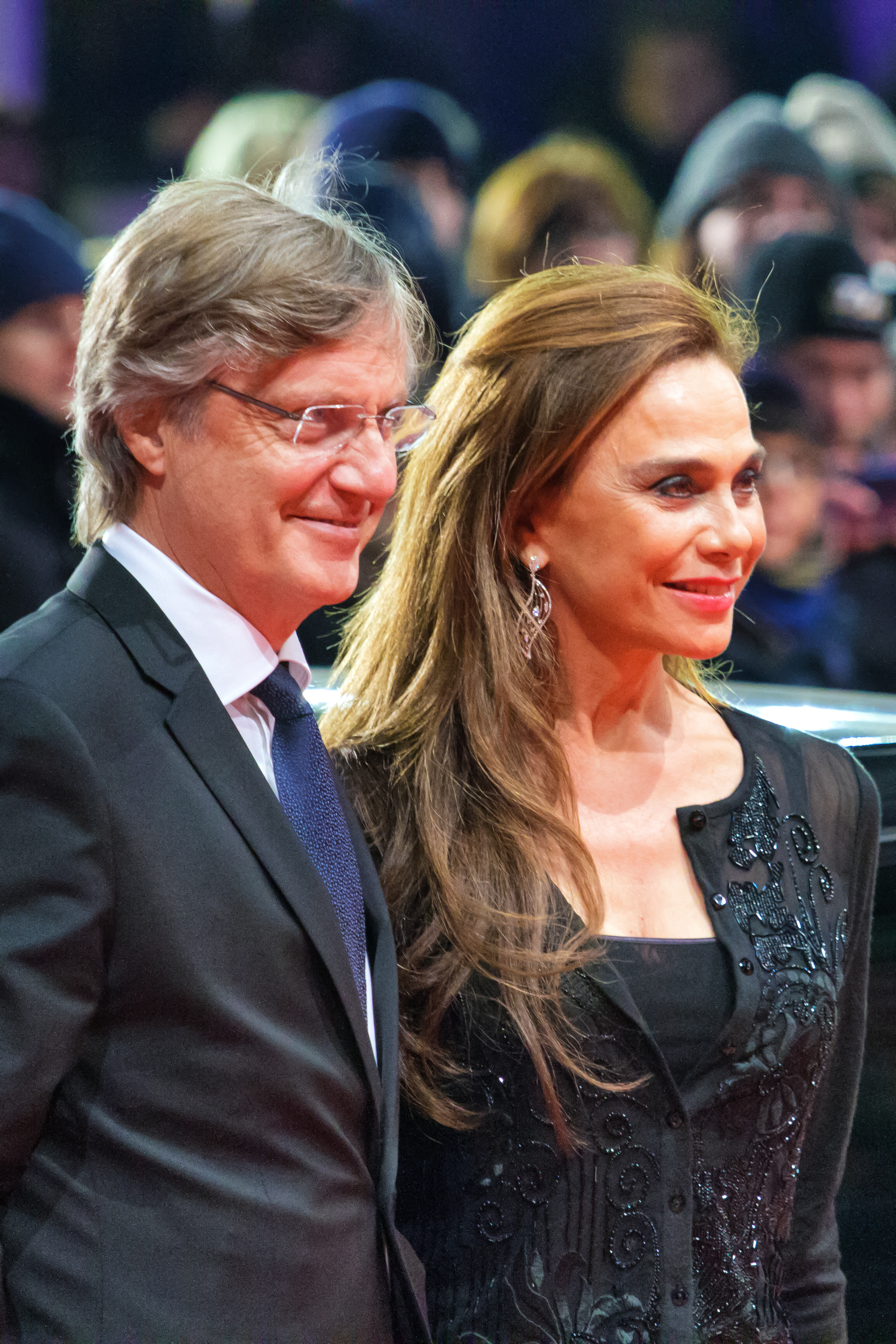 Hallström and wife Lena Olin at the [[63rd Berlin International Film Festival|2013 Berlin International Film Festival]]
