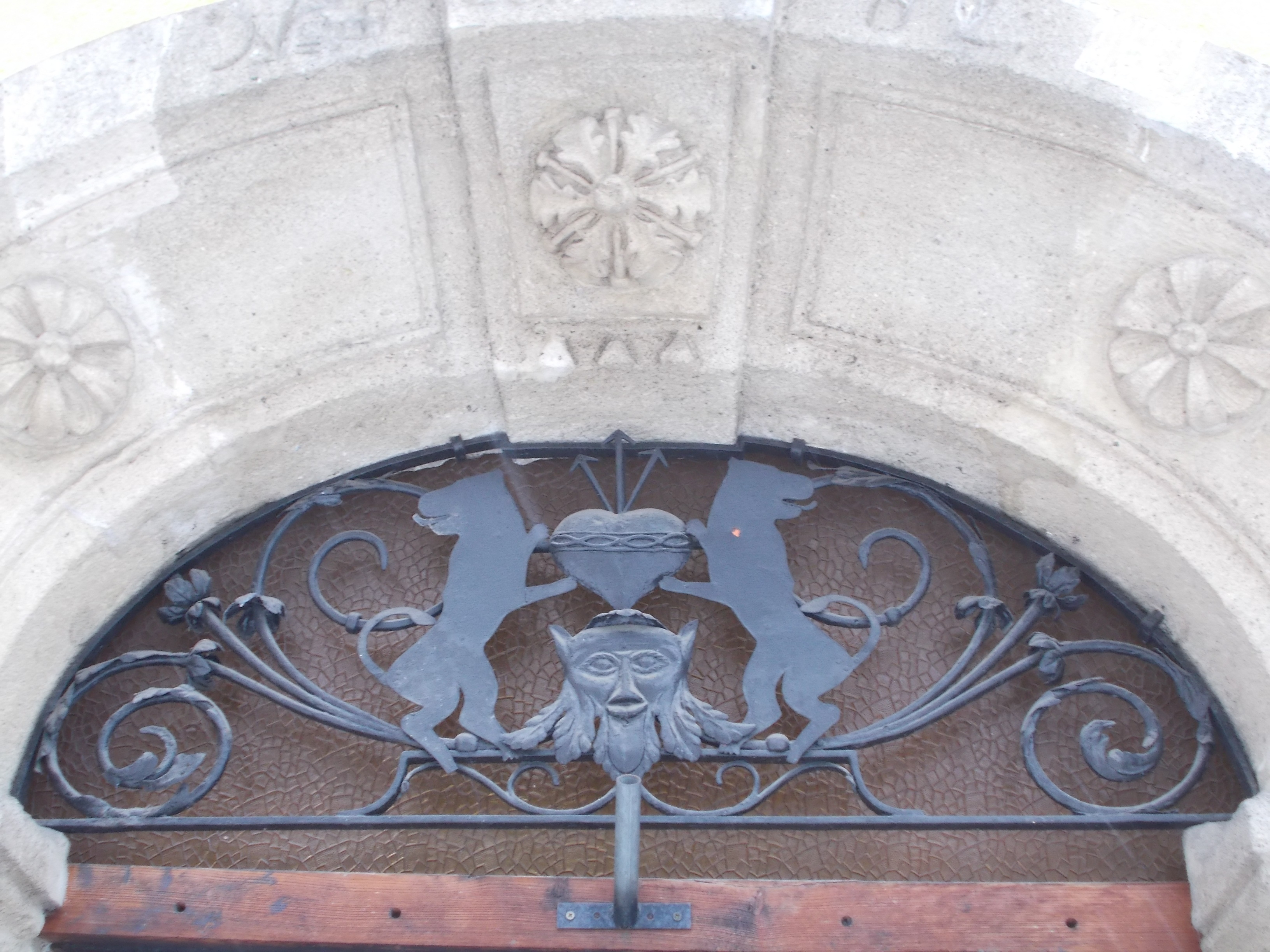 Attractive File:Listed House. Portal Detail.   13 Corvin Square, Víziváros, Budapest