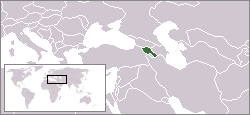 Location of Armenia