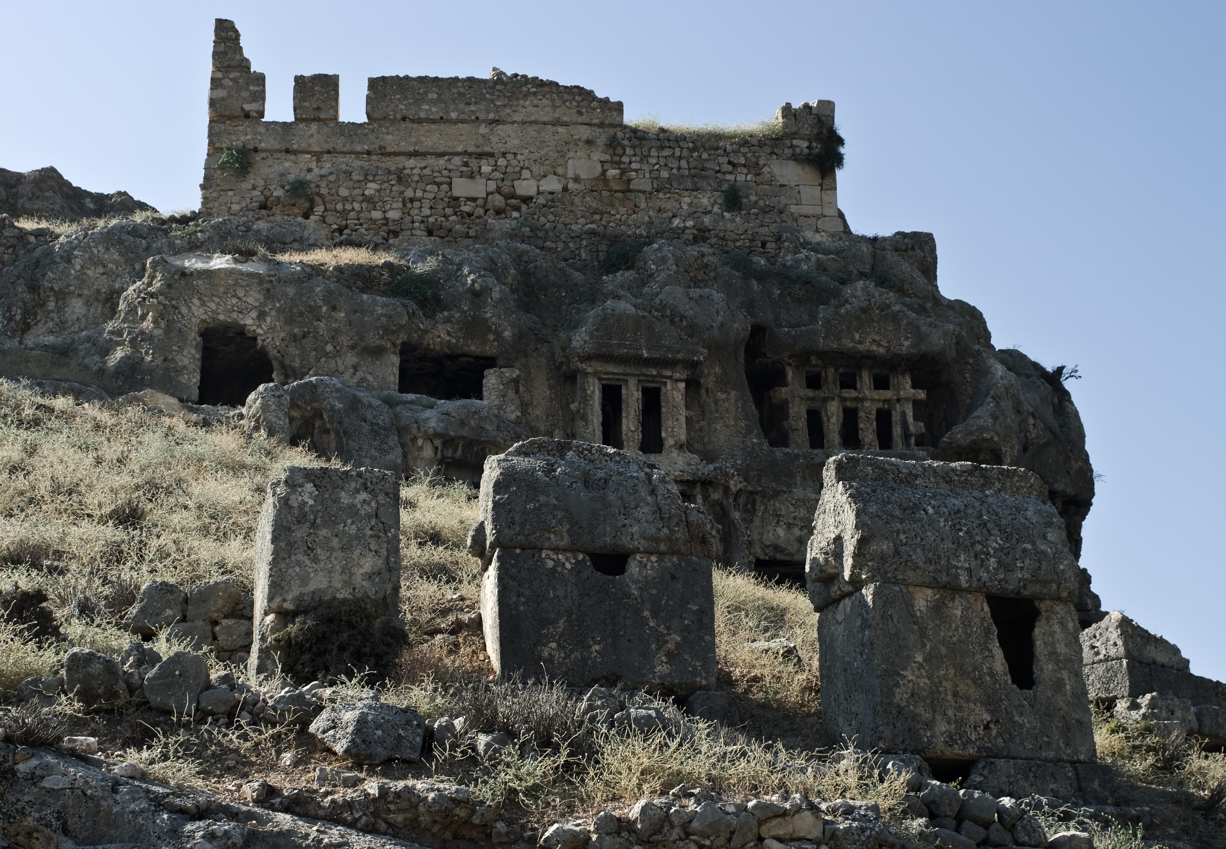 File:Lycian tombs Tlos IMGP8449.jpg