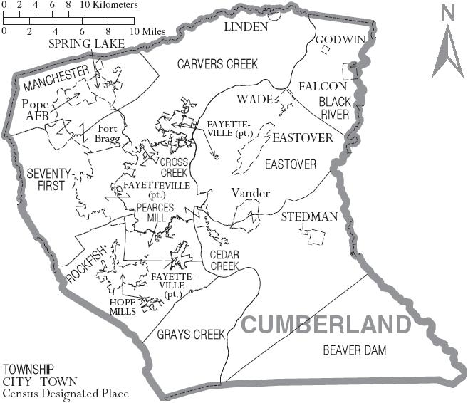 File:Map of Cumberland County North Carolina With Municipal and