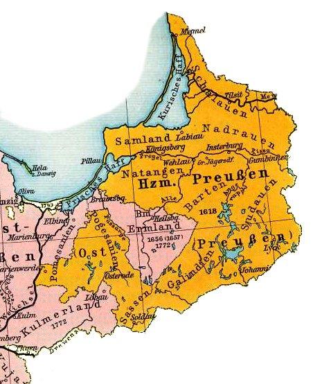 Karten von Ostpreussen 1648 - Quelle: WikiCommons