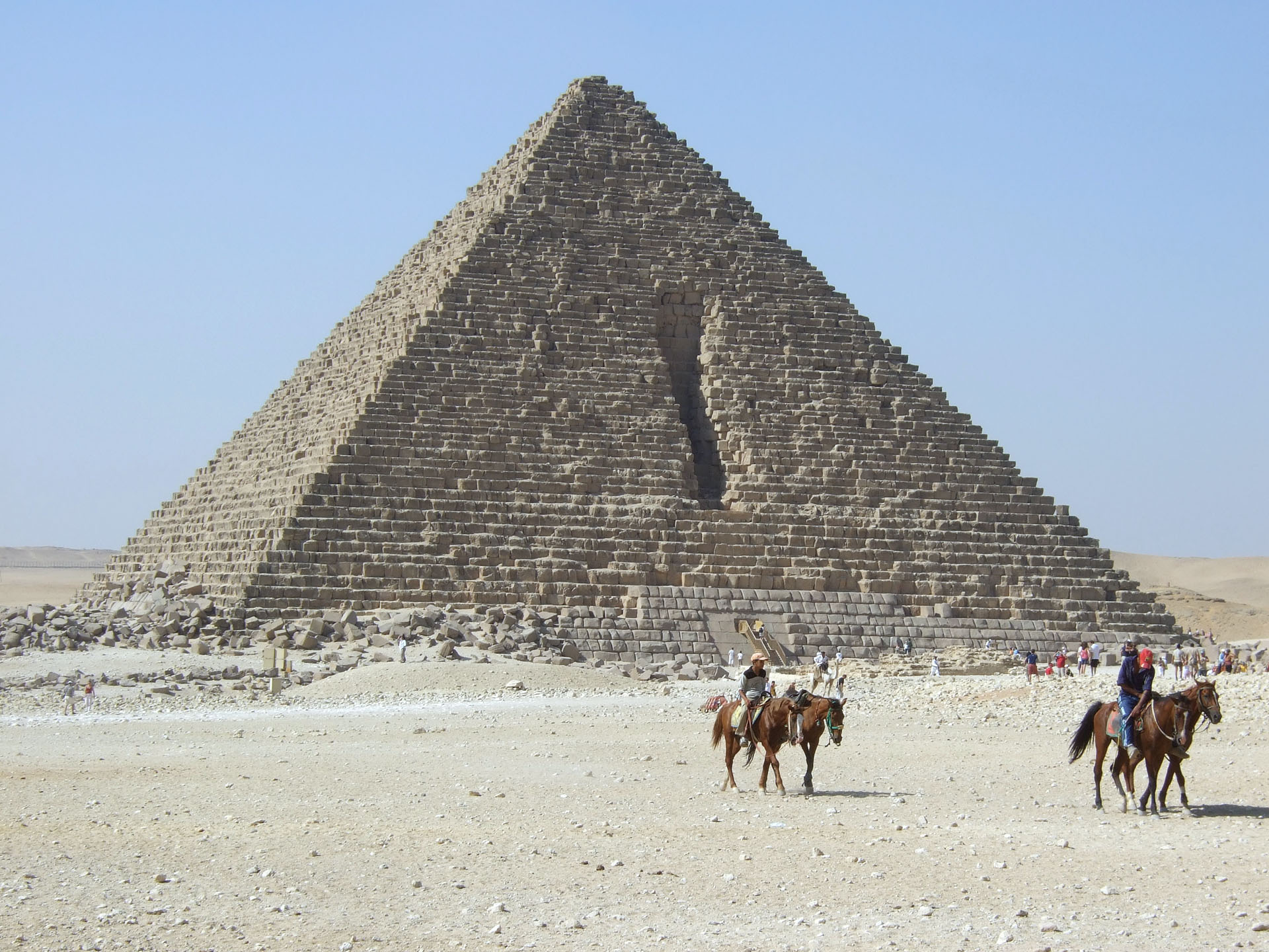 Giza Egypt  city images : Menkaures Pyramid Giza Egypt Wikimedia Commons