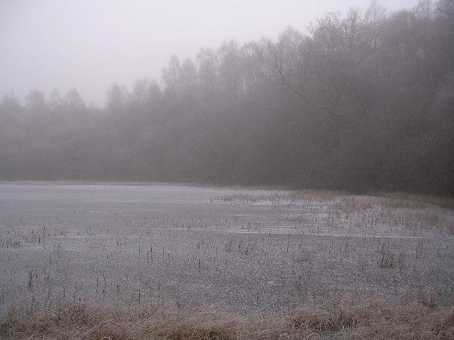 Misty Frozen Dumbrock Loch - geograph.org.uk - 96657
