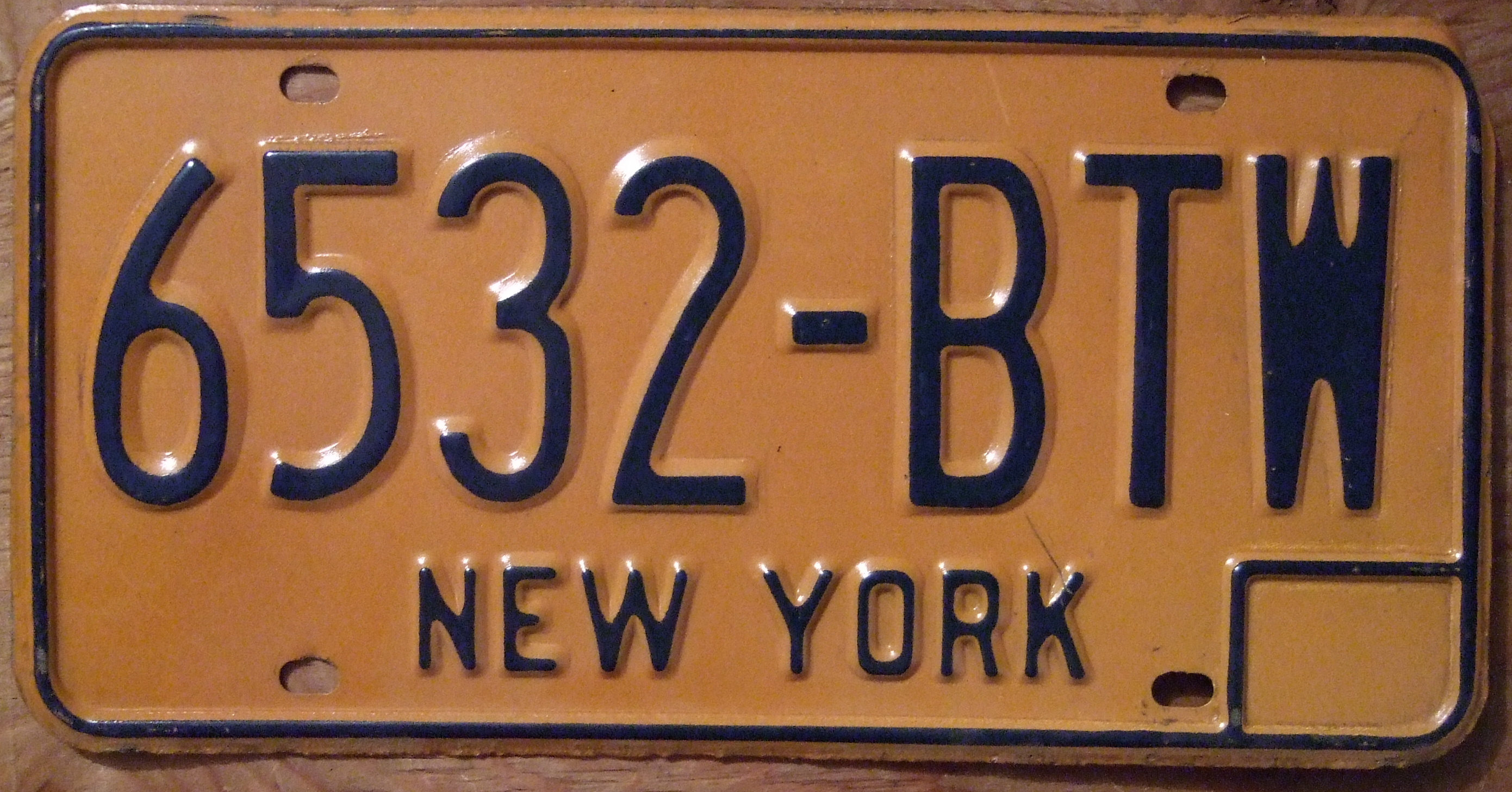 Vintage New York License Plates 77