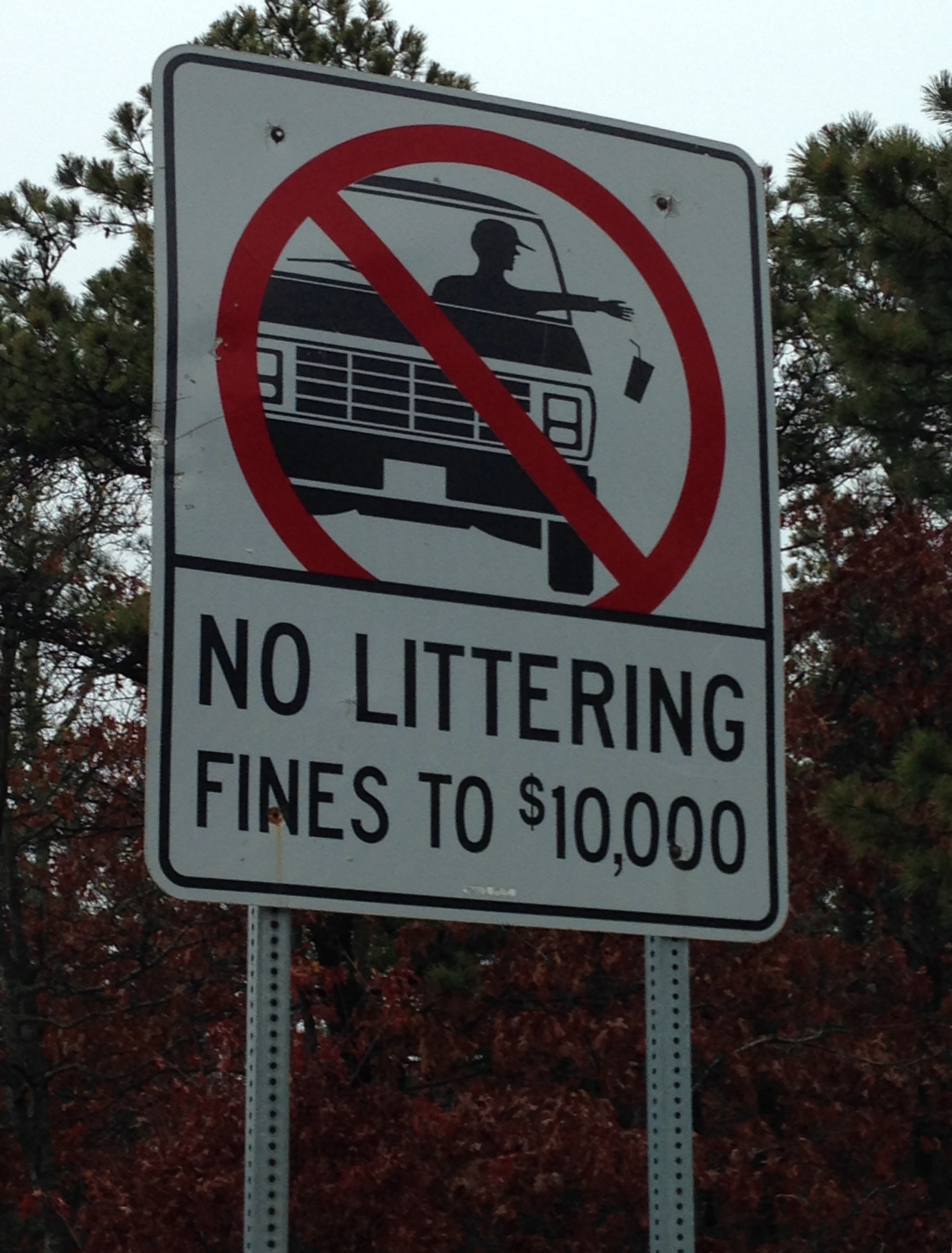 File:No littering sign in Cape Cod.jpg - Wikimedia Commons