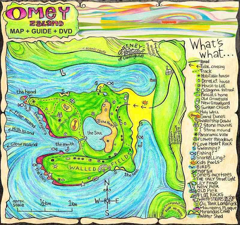Omey Island Map