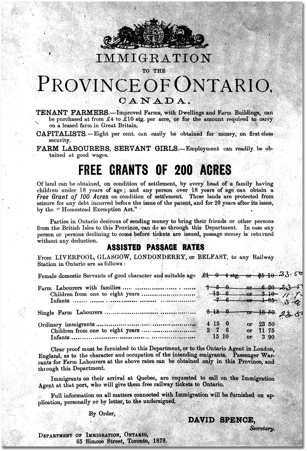 history of ontario