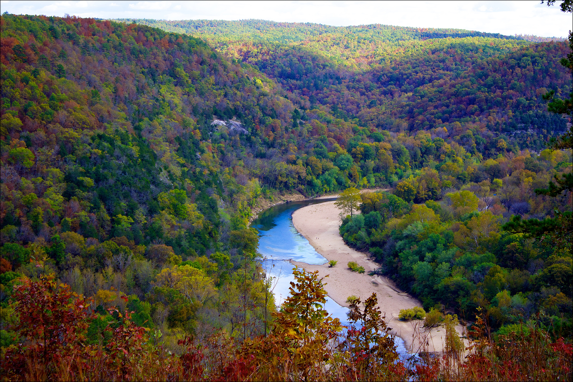 By Doug Wertman (Flickr: Overlooking The Buffalo River) [CC BY 2.0 (http://creativecommons.org/licenses/by/2.0)], via Wikimedia Commons