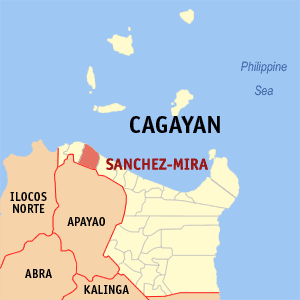 Map of Cagayan showing the location of Sanchez-mira
