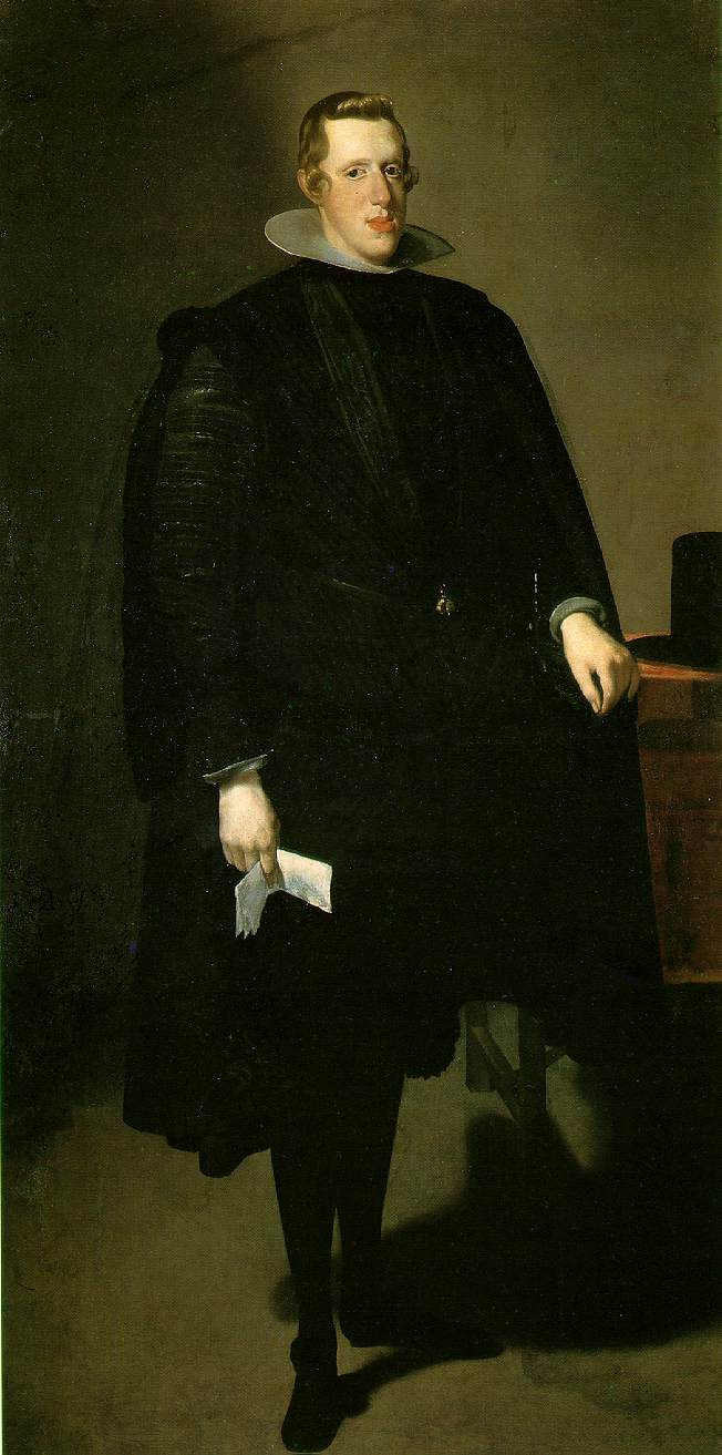 King Philip IV (1621-1665 rhs), the picture of Velasquez.