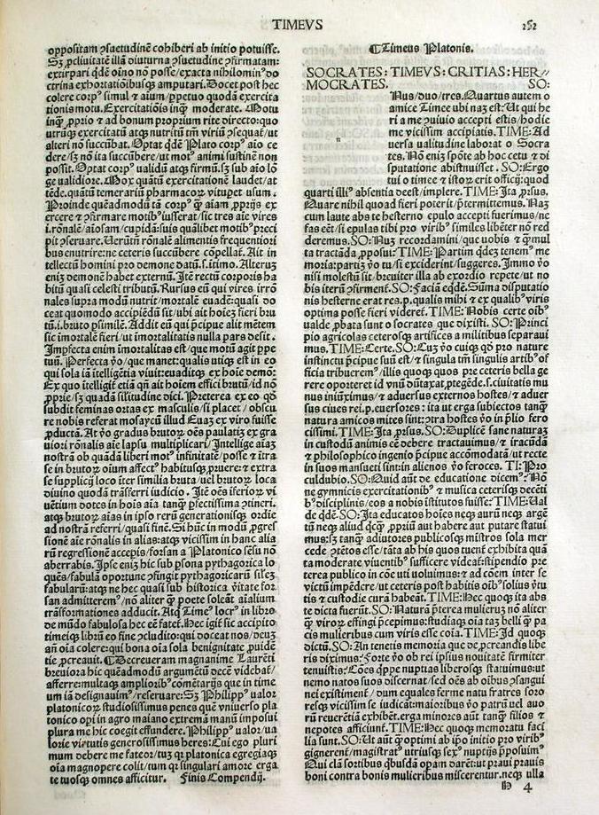 A fifteenth-century Latin translation of Plato's ''Timaeus''