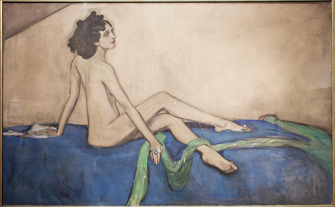 La bailarina y mecenas rusa Ida Rubinstein (1885-1960) era una amiga íntima de Ravel. Ella fue la inspiración y destinataria del <em>Bolero</em>. Retrato de Valentín Serov.