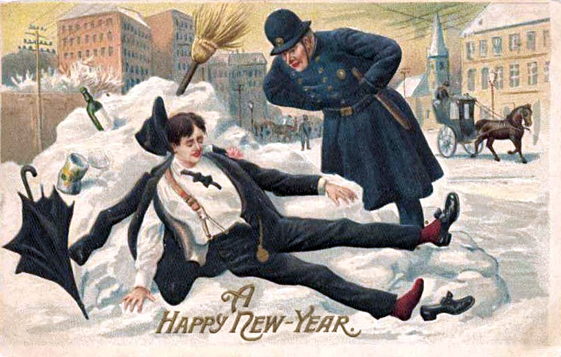English: Postcard picture for New Year's; eBay...