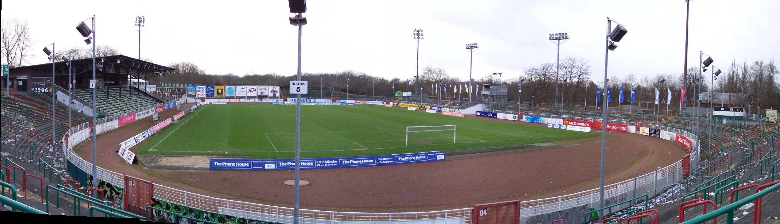 Panorama vom Innern des Stadions