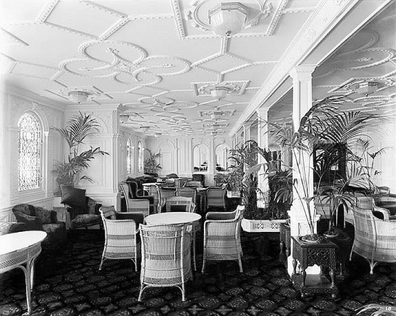 RMS Olympic Reception Room Looking Towards The Dining Saloon Part 79