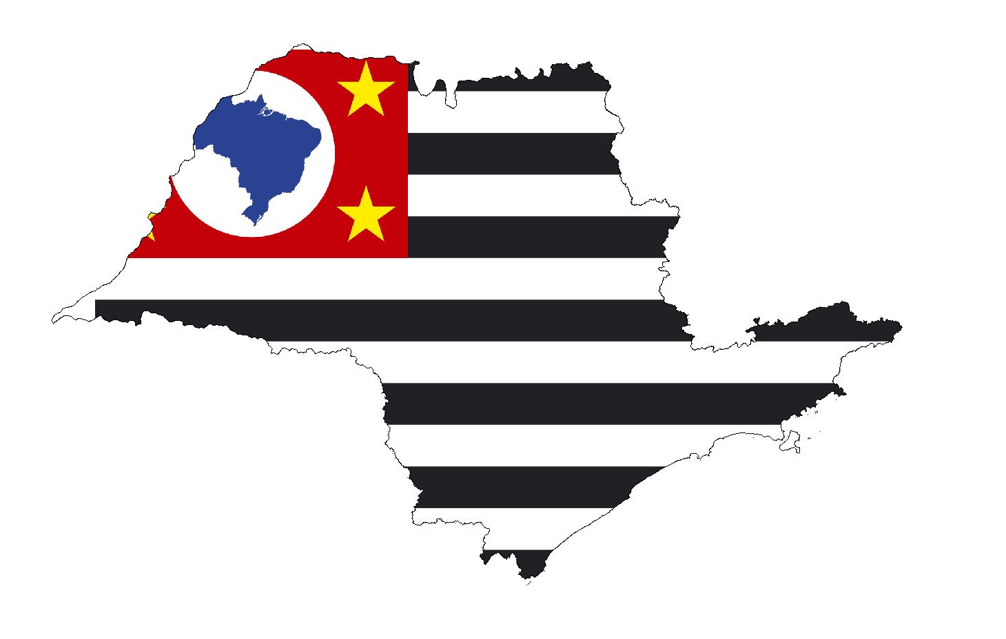 Sao Paulo State Map.File Sao Paulo State Flag Map Png Wikimedia Commons