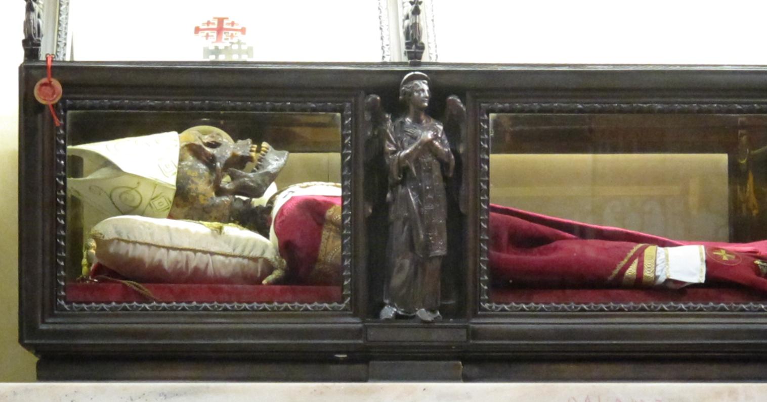 Galdinus, erkebiskop av Milano (1166-76). Alteret for Madonna dell'Albero i venstre tverrskip i Duomo i Milano