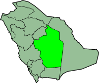 Map of Saudi Arabia with Riyadh highlighted