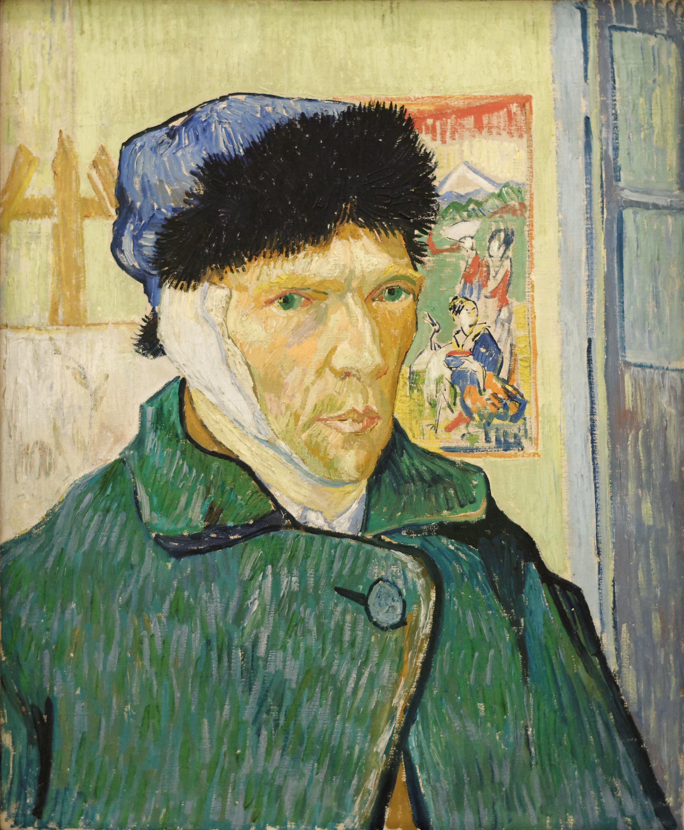 Image result for van gogh portrait with bandaged ear