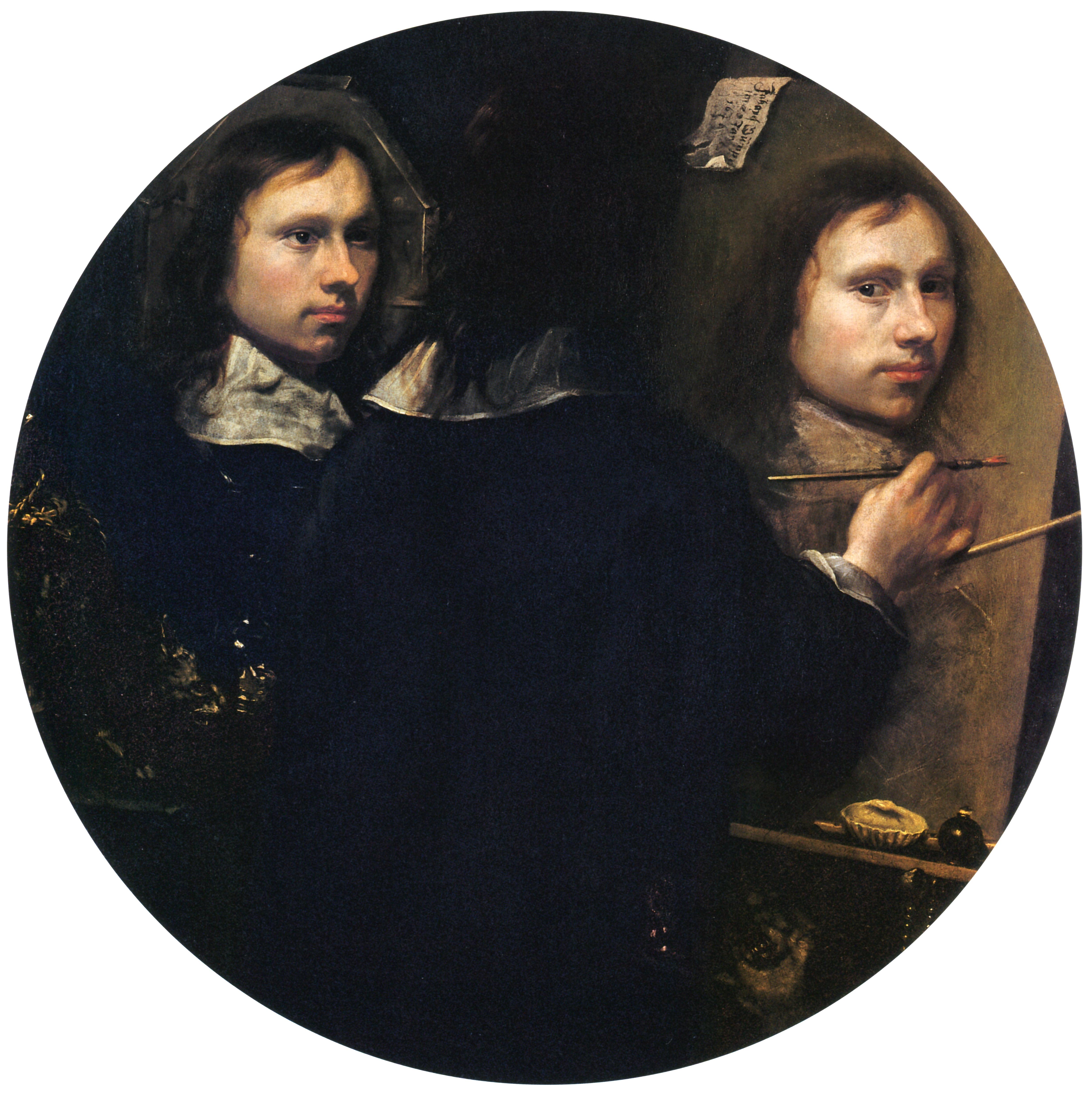 File self portrait by johannes wikimedia commons for Autoportrait miroir
