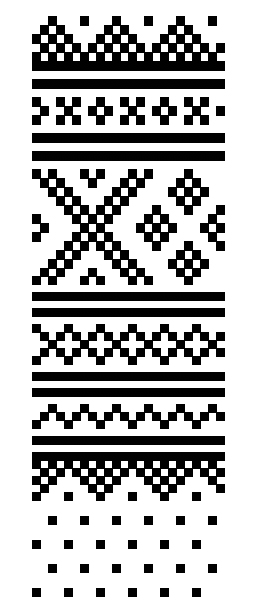English: Pattern of traditional Norwegian Sete...