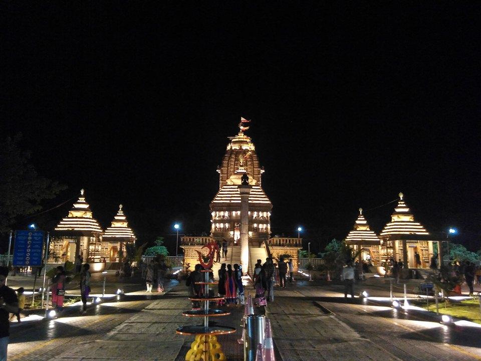 file sri jagannath temple night view emami paper mill balasore
